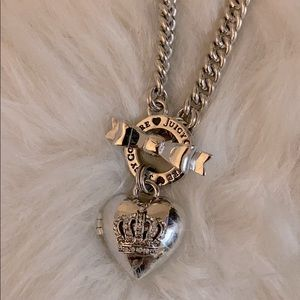 Juicy Couture Bow Toggle Heart Crown Necklace
